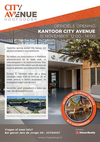 Uitnodiging voor Opening City Avenue